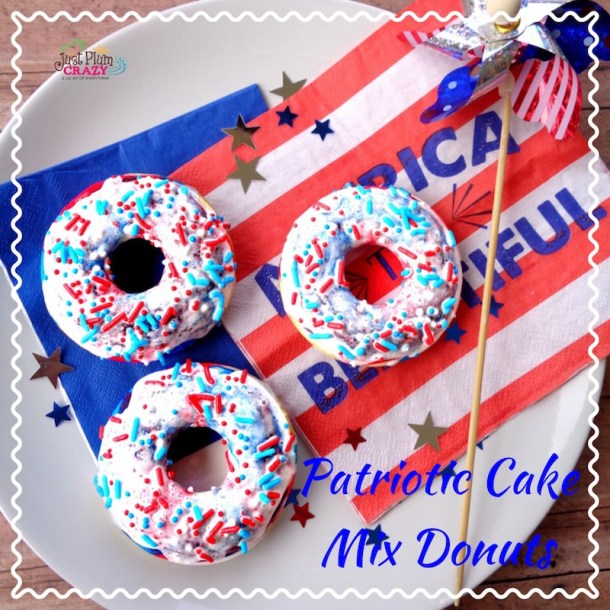4th of July Cake Mix Donuts Recipe