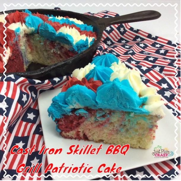 Cast Iron Skillet BBQ Grill Patriotic Cake Recipe