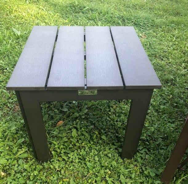 the abba patio recycled wood plastic composite end table is more favorable and healthy for the - Abba Patio