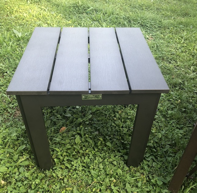 The Abba Patio Recycled Wood Plastic Composite End Table Is More Favorable  And Healthy For The