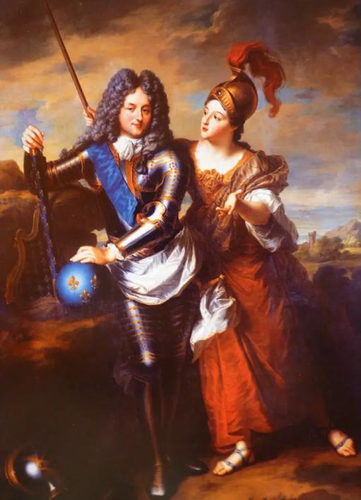 Le Régent accompagné de Minerve sous les traits de Madame de Parabère, sa plus célèbre maîtresse - Tableau de Jean-Baptiste Santerre