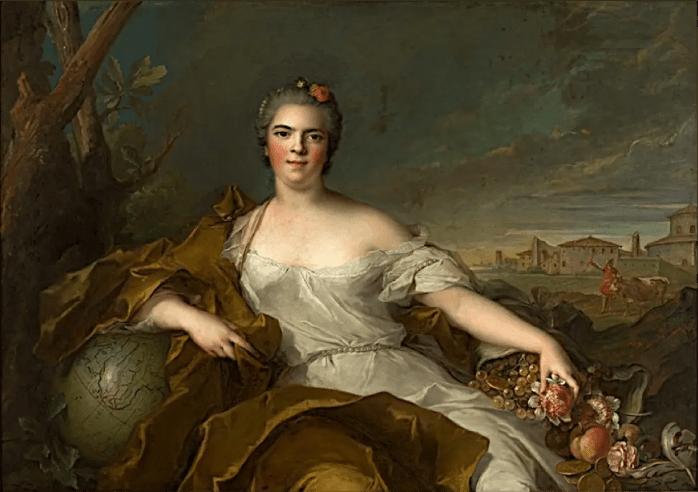 Madame Elisabeth de France : La Terre, par Jean-Marc Nattier