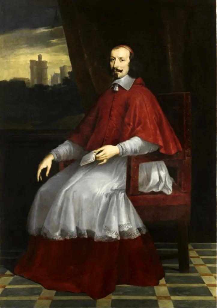 Mazarin en pied par Philippe de Champaigne