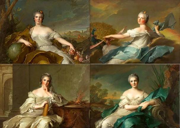 Mesdames de France, filles de Louis XV, sous les traits des 4 éléments (Jean-Marc Nattier)ames de France, filles de Louis XV, sous les traits des 4 éléments (Jean-Marc Nattier)
