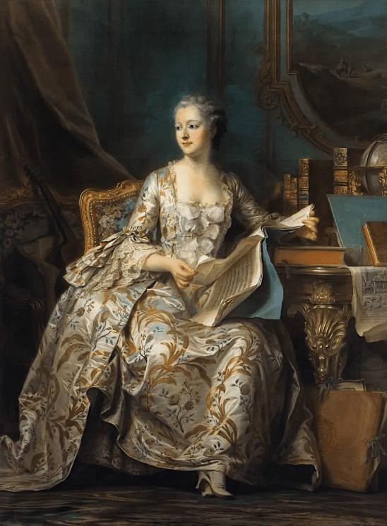 Madame de Pompadour peinte en 1755 par Maurice Quentin de La Tour - Musée du Louvre
