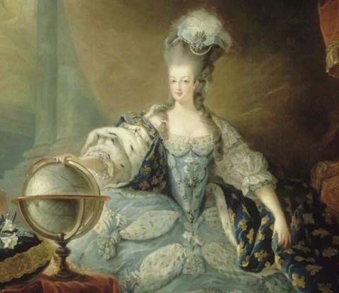 Marie-Antoinette en tenue de sacre, par Jean-Baptiste Gauthier-Dagoty
