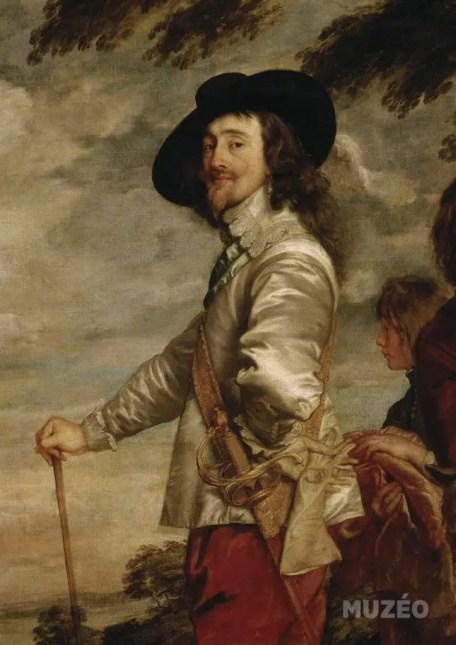 """Détail du tableau """"Charles Ier à la chasse"""", peint par Van Dyck vers 1635"""