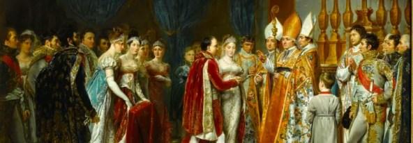 Le mariage de Napoléon et Marie-Louise au Louvre, peint par George Rouet en 1810 - Musée du château de Versailles et de Trianon