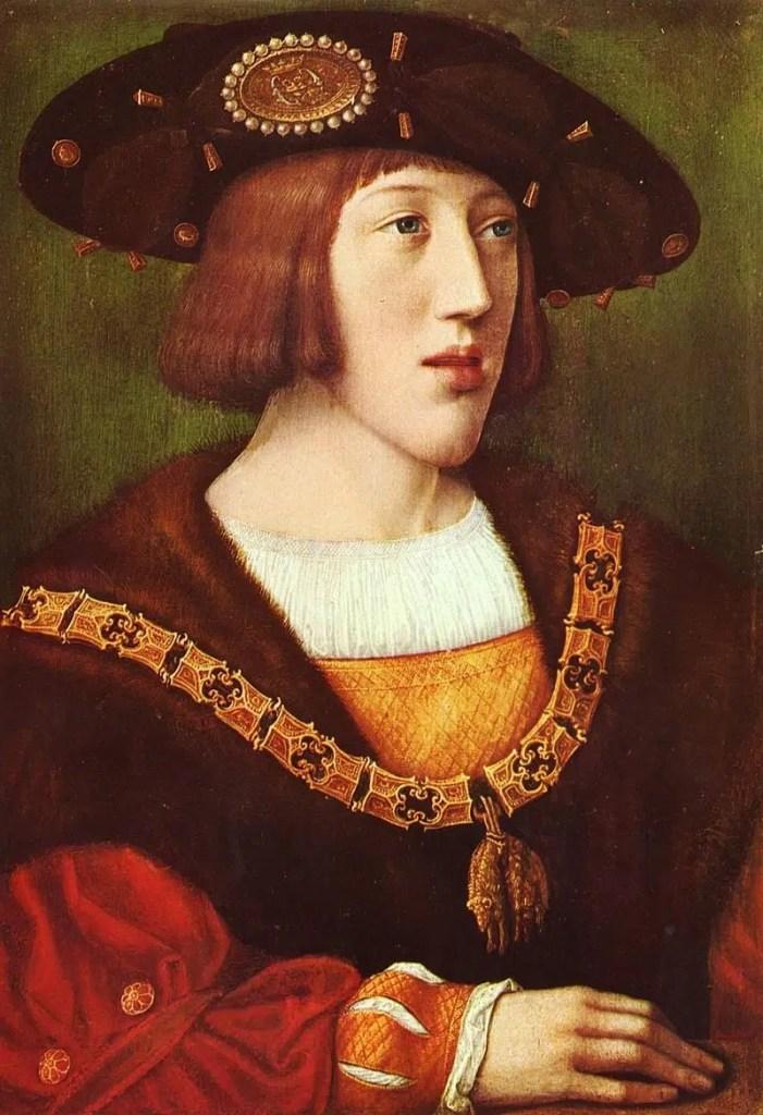 Tableau représentant le jeune Charles de Gand, futur Charles Quint, aux alentours de 1515