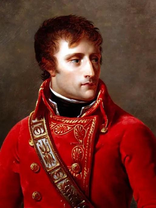 Détail d'un portrait de Bonaparte en Premier Consul, par Antoine Jean Gros