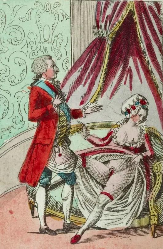 Estampe érotique Louis XVI et Marie-Antoinette