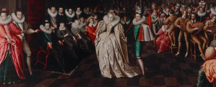 Le Bal des noces du duc de Joyeuse (1581), école française, considérée à l'époque comme une orgie de divertissements - Musée du Louvre