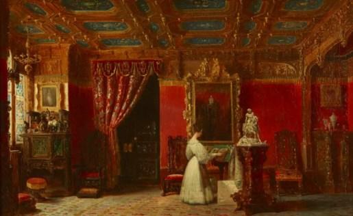 Marie d'Orléans dans son atelier aux Tuileries, commandé par Louis-Philippe et réalisé en 1842 par Prosper Lafaye - Musée du château de Versailles