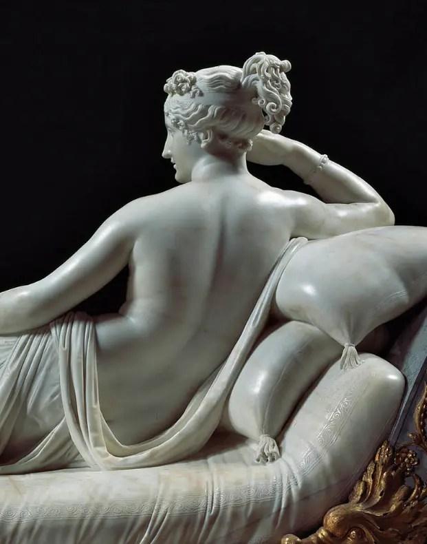 Pauline Bonaparte en Vénus par Canova (détail)
