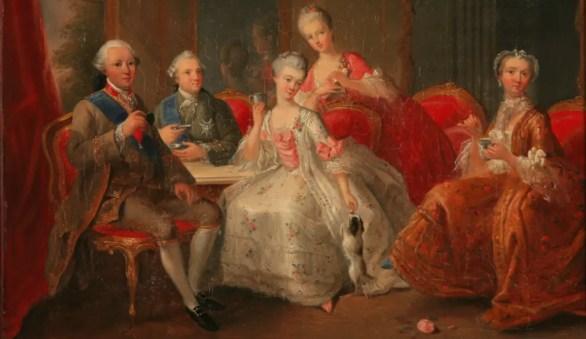 """""""La Tasse de Chocolat"""" ou """"La famille Penthièvre"""", par Jean-Baptiste Charpentier (fin XVIIIème)"""