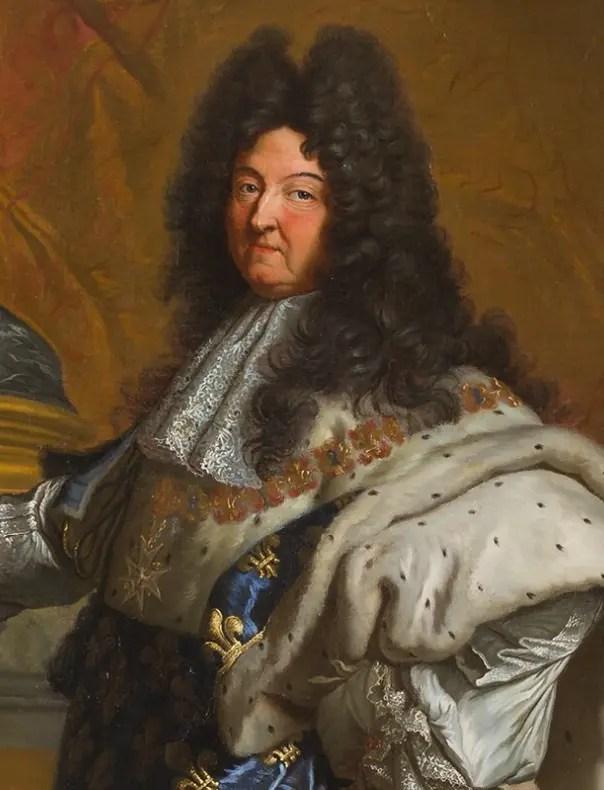 Louis XIV en costume de sacre par Rigaud (Musée du château de Versailles)