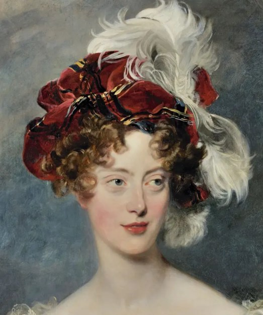 La duchesse de Berry en 1825, par Thomas Lawrence (collections du château de Versailles)