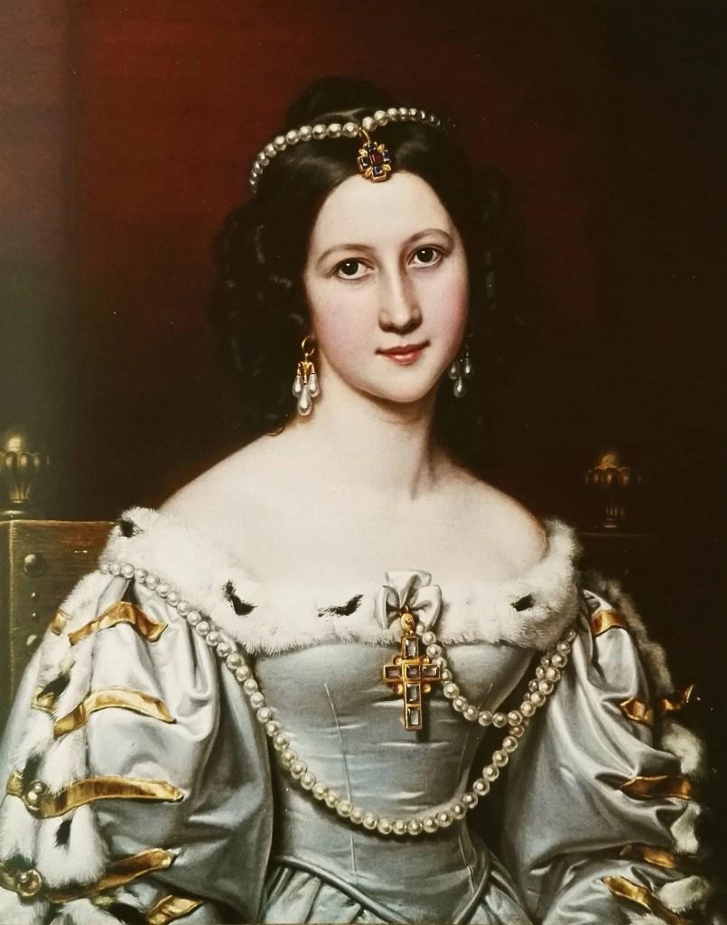 Charlotte von Hagn - Portrait par Stieler en 1828 pour la Galerie des Beautés