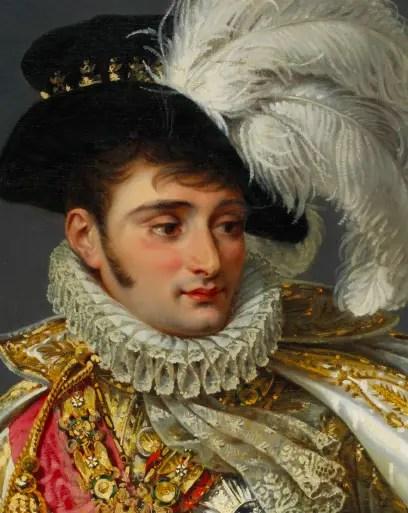 Détail d'un portrait équestre de Jérôme Bonaparte, peint par Jean Gros vers 1808
