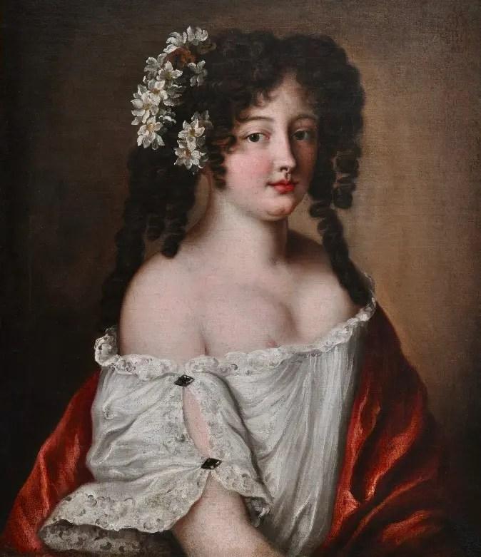 Diane de Thianges en 1665, cinq ans avant son mariage, par Jacob Voet