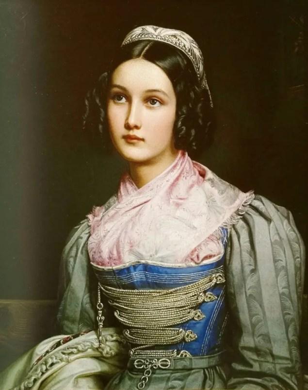 Helene Sedelmayer - Portrait par Stieler en 1831 pour la Galerie des Beautés