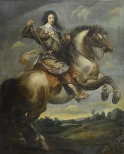 Portrait équestre de Louis XIII par Claude Deruet entre 1630 et 1643, collections du château de Versailles