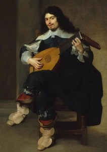 Un joueur de luth vers 1640