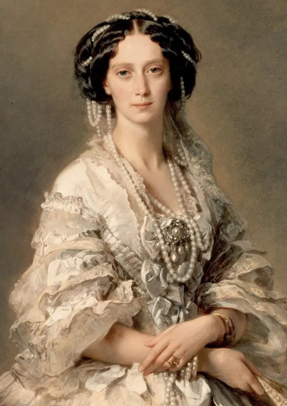 La tsarine Maria Alexandrovna par Winterhalter en 1857 - Hermitage