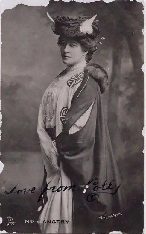 Lillie Langtry au début des années 1900 (National Portrait Gallery)