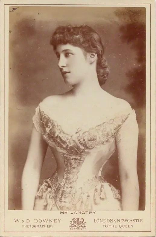 Lillie Langtry au millieu des années 1880