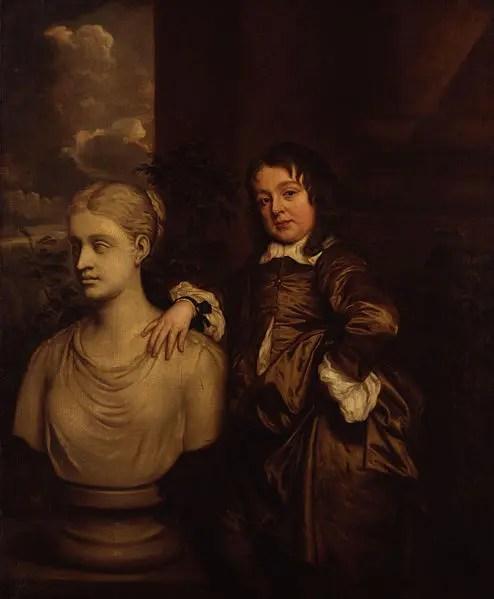 Richard Gibson par Peter Lely en 1658 (National Portrait Gallery)