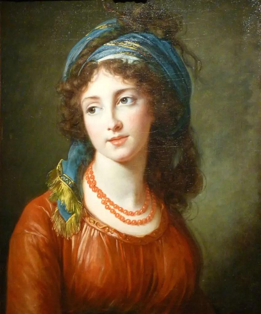 Aglaé de Polignac, duchesse de Guiche, par Elisabeth Vigée Lebrun en 1794 - Collection particulière