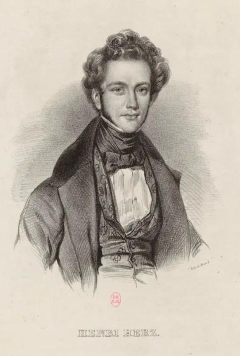 Henri Herz en 1834 (Gallica BNF)