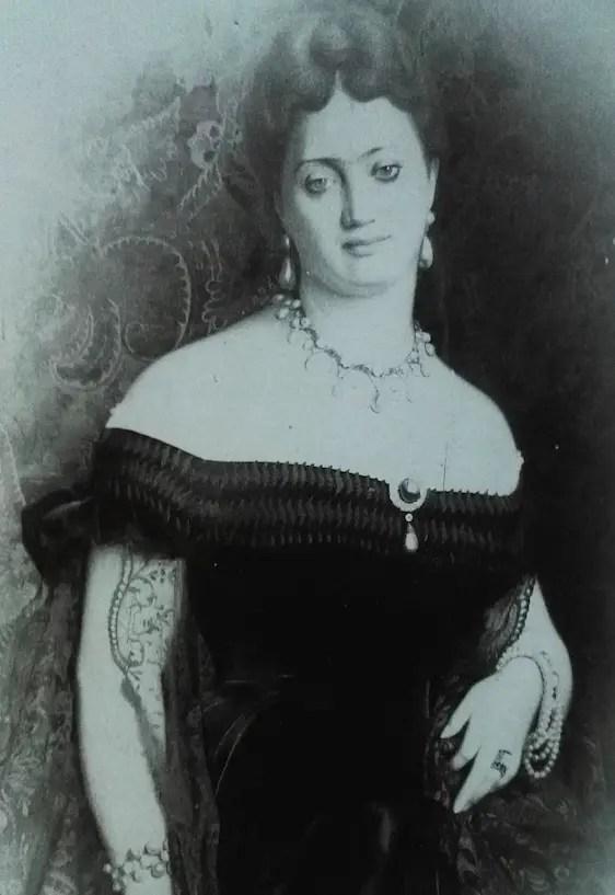 La photographie retrouvée dans les archives de la famille von Donnersmarck, qui a permis d'identifier La Païva