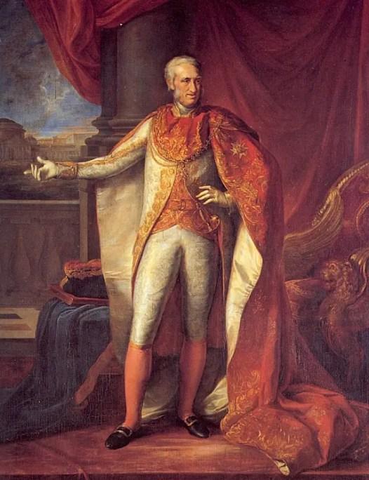 Ferdinand peint en 1818 par Vincenzo Camuccini (Palais royal de Naples)