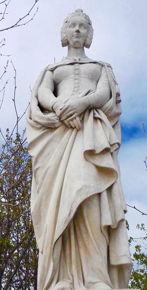 Statue de Marguerite de Provence dans le jardin du Luxembourg (série Reines de France et femmes illustres)