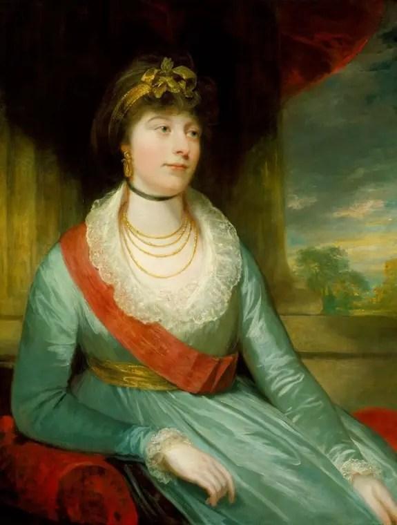 Charlotte, princess Royal, par William Beechey vers 1795/97 (Windsor, Collection Elizabeth II)