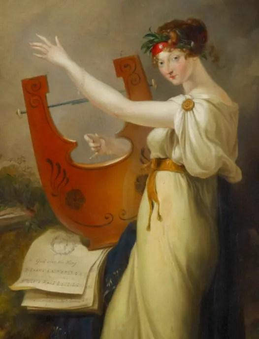 La princesse Amélia par Peter Edward Stroehling, en 1807 (Collection de la Reine Elizabeth II)