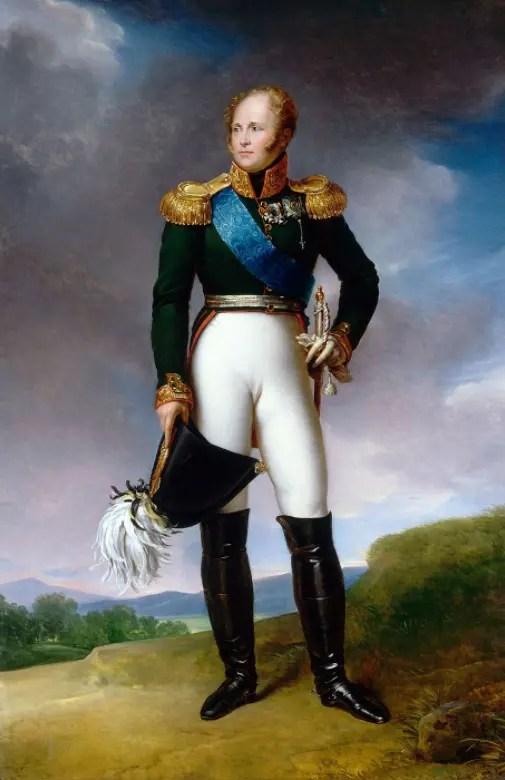 Le tsar Alexandre Ier par François Gérard en 1814 (Musée de l'Ermitage)