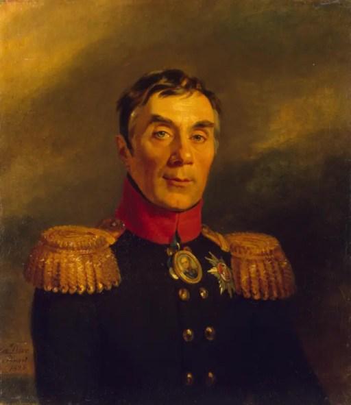 Alexis Araktcheïev par George Dawe en 1824 - Musée de l'Ermitage, galerie militaire (Palais d'hiver, Saint-Pétersbourg)