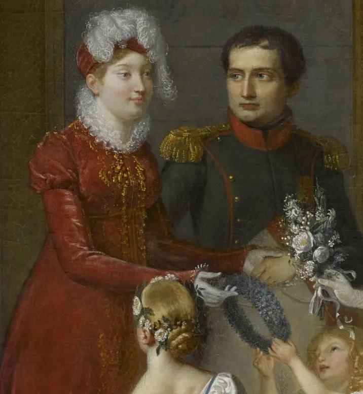 Marie-Louise avec Napoléon lors de son arrivée à Compiègne, par Pauline Auzou (Collection du château de Versailles)