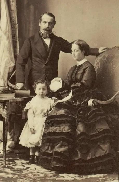 Napoléon III, Eugénie et leur fils le prince impérial