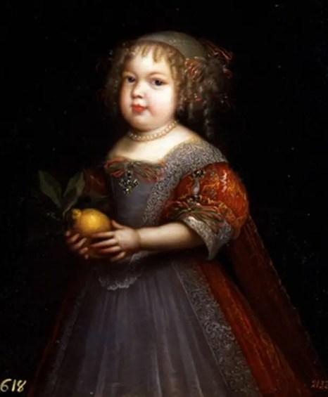 Marie-Thérèse de Bourbon, dite la petite Madame, par Jean Nocret (Collection du musée du Prado, Madrid)