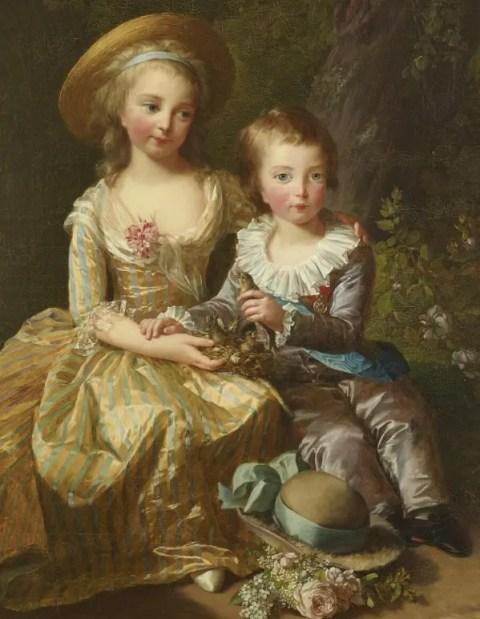 Madame Royale et le Dauphin Louis-Joseph par Elisabeth Vigée Lebrun en 1784 (Collection du château de Versailles)