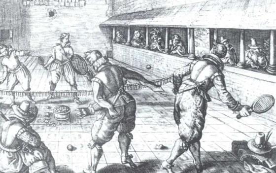 Jeu de paume au XVIème siècle