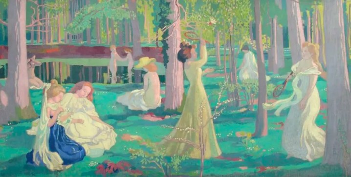 Jeu de volant, Maurice Denis (1900)