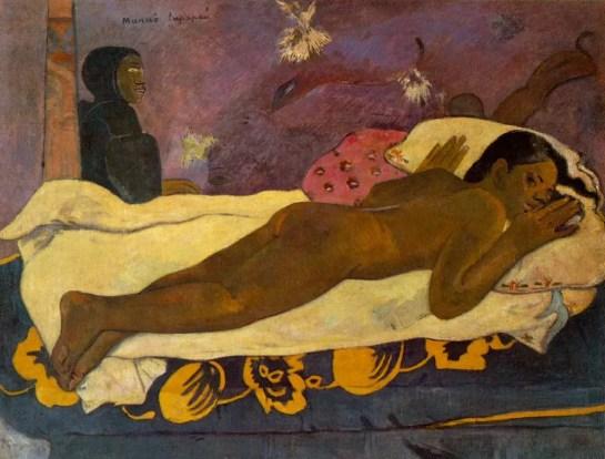 L'esprit des morts veille, représentant Tehura (Manao Tupapau) 1892
