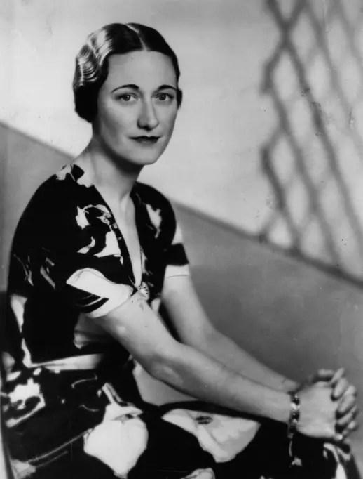 Wallis Simpson, bientôt duchesse de Windsor, en 1936