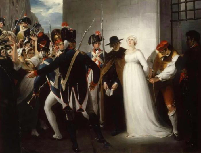 Marie-Antoinette conduite sur le lieu de son exécution, le 16 octobre 1793, par William Hamilton (1794)