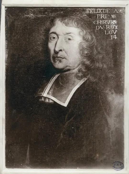 Félix de Tassy, premier chirurgien du Roi, heureux élu pour pratiquer l'opération de la fistule annale - Peinture, Collège de Chirurgie de Paris